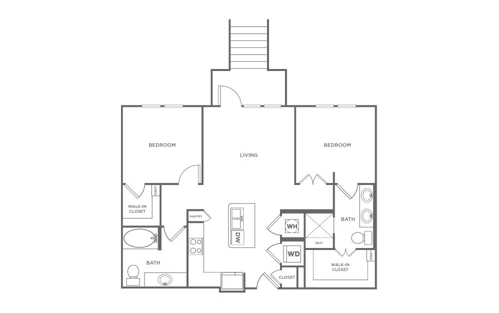 B2.1 | 2 Bed, 2 Bath, 978 sq. ft. Apartment at Point Scott
